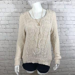 Charlotte Russe Cream Sweater